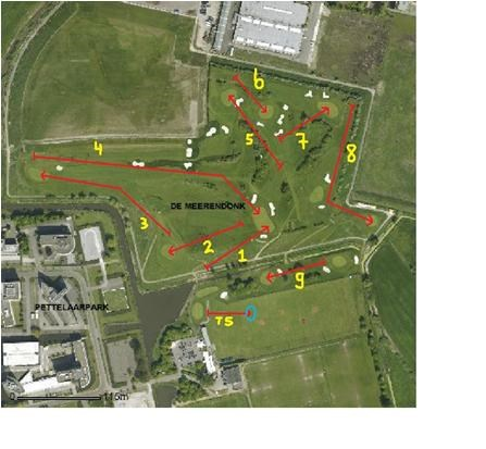 Cross Country 9 Holes Course Map